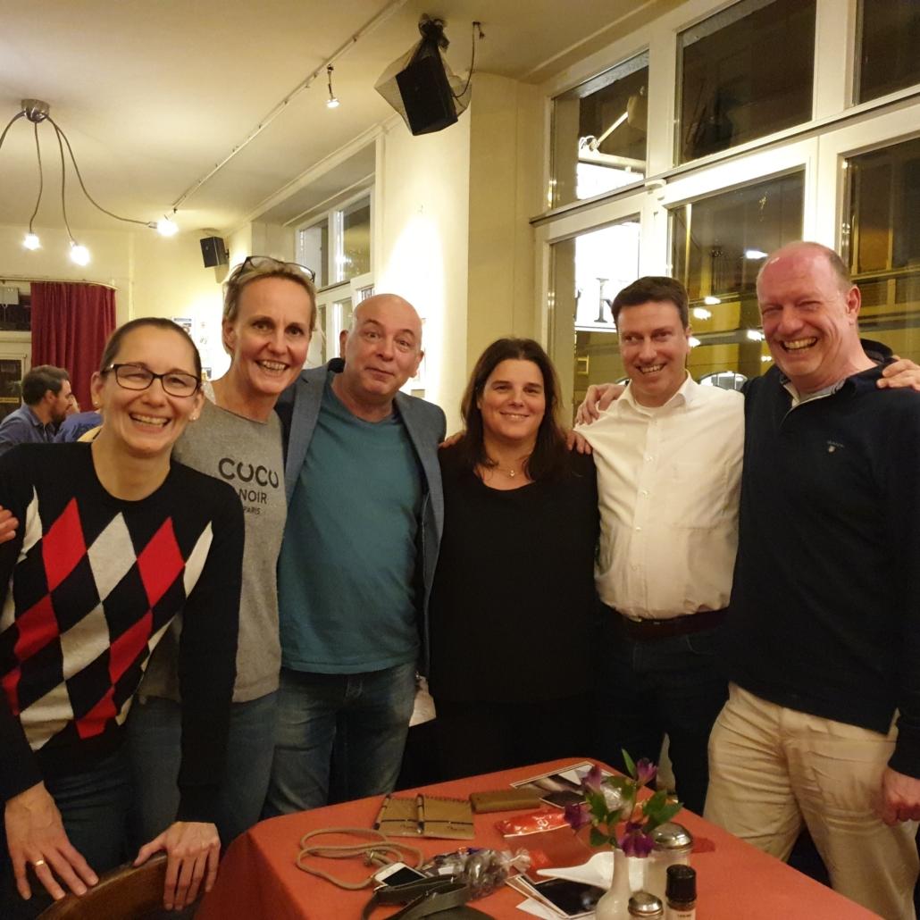 Gewinner-Team vom stadtmobil Table-Quiz beim Café K