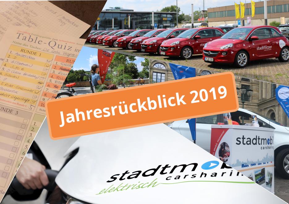 Jahresrückblick 2019 bei stadtmobil