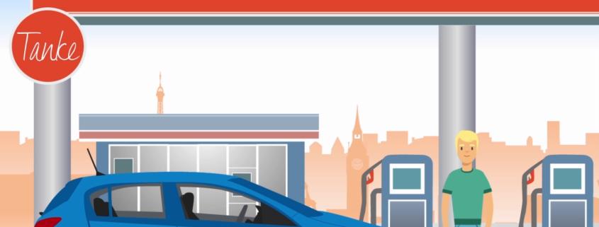 Sparen an der Tankstelle mit stadtmobil
