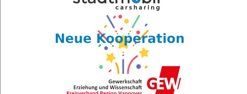 Stadtmobil Kooperation mit der GEW