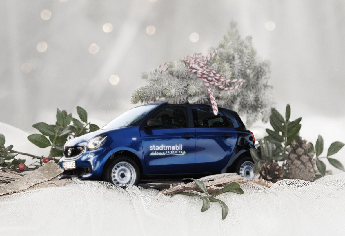 Weihnachtsbaum-Aktion von stadtmobil