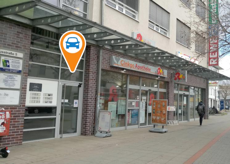 Station auf dem Parkdeck