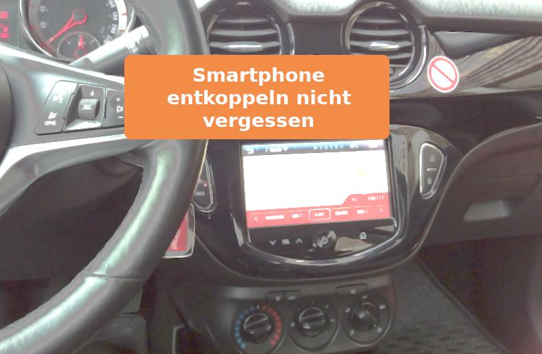 Smartphone im stadtmobil Auto nutzen - und wieder entkoppeln